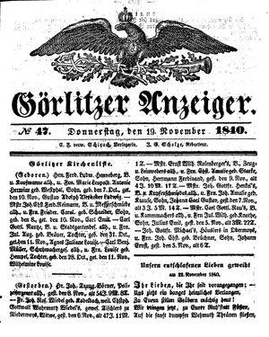 Görlitzer Anzeiger on Nov 19, 1840