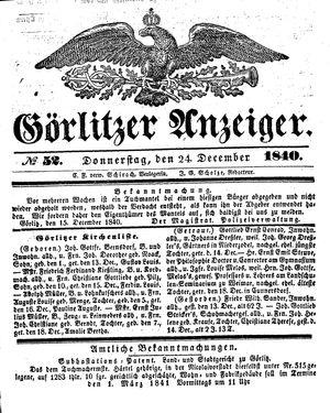 Görlitzer Anzeiger vom 24.12.1840