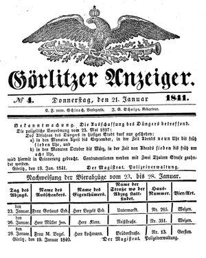 Görlitzer Anzeiger vom 21.01.1841