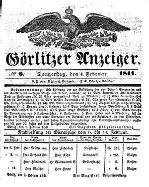 Görlitzer Anzeiger vom 04.02.1841