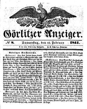 Görlitzer Anzeiger vom 18.02.1841