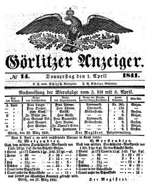 Görlitzer Anzeiger vom 01.04.1841