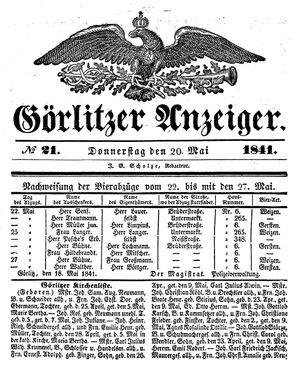 Görlitzer Anzeiger vom 20.05.1841