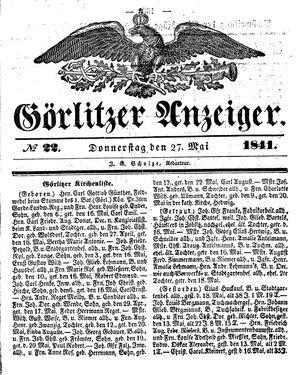 Görlitzer Anzeiger vom 27.05.1841