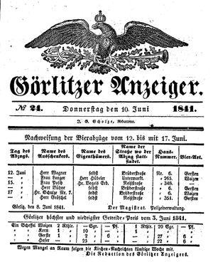Görlitzer Anzeiger vom 10.06.1841