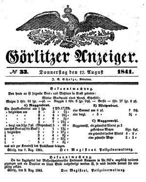 Görlitzer Anzeiger vom 12.08.1841