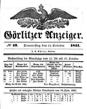 Görlitzer Anzeiger on Oct 21, 1841
