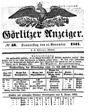 Görlitzer Anzeiger vom 11.11.1841