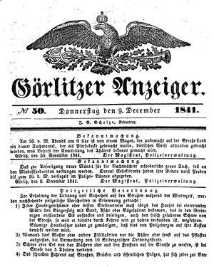 Görlitzer Anzeiger vom 09.12.1841