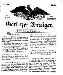 Görlitzer Anzeiger (22.09.1842)