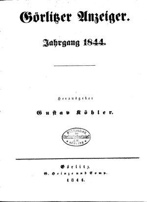 Görlitzer Anzeiger vom 01.01.1844