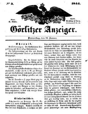 Görlitzer Anzeiger vom 18.01.1844
