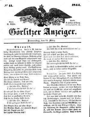 Görlitzer Anzeiger vom 14.03.1844