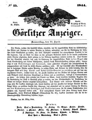 Görlitzer Anzeiger vom 11.04.1844