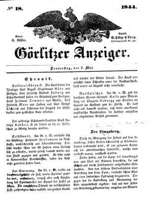 Görlitzer Anzeiger vom 02.05.1844