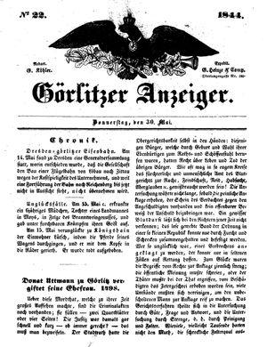 Görlitzer Anzeiger vom 30.05.1844