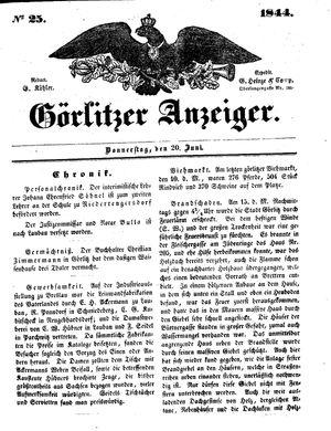 Görlitzer Anzeiger vom 20.06.1844