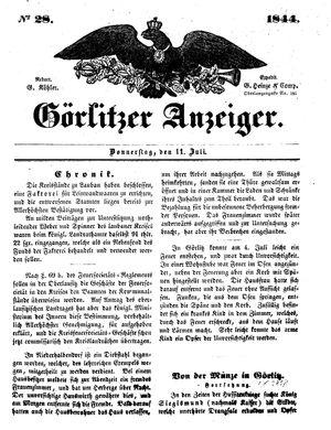 Görlitzer Anzeiger vom 11.07.1844