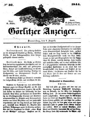 Görlitzer Anzeiger vom 08.08.1844