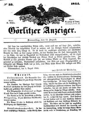 Görlitzer Anzeiger vom 15.08.1844