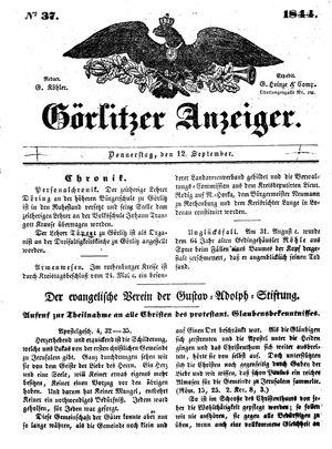 Görlitzer Anzeiger vom 12.09.1844