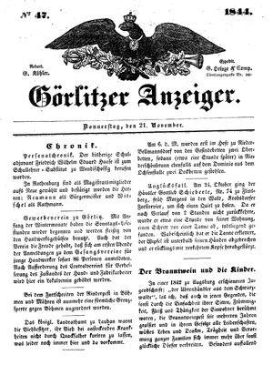 Görlitzer Anzeiger on Nov 21, 1844