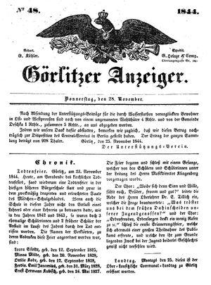 Görlitzer Anzeiger on Nov 28, 1844