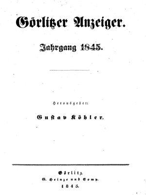 Görlitzer Anzeiger on Jan 1, 1845