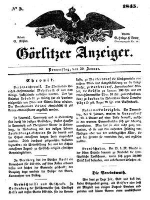 Görlitzer Anzeiger vom 30.01.1845