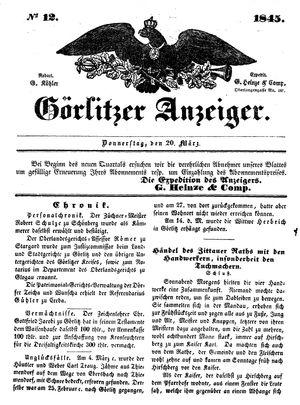 Görlitzer Anzeiger vom 20.03.1845
