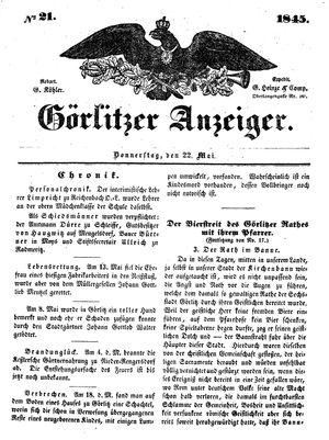 Görlitzer Anzeiger vom 22.05.1845