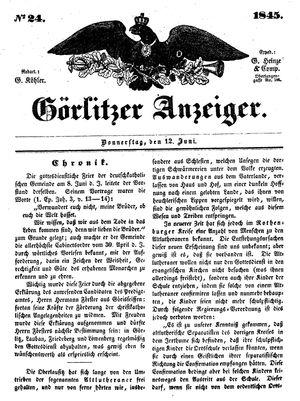 Görlitzer Anzeiger vom 12.06.1845