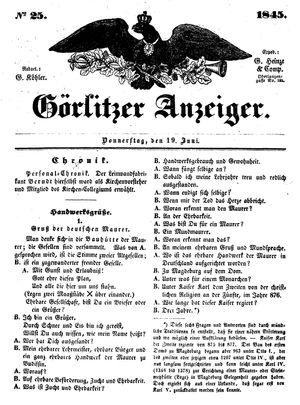 Görlitzer Anzeiger vom 19.06.1845