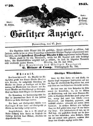 Görlitzer Anzeiger on Jul 17, 1845
