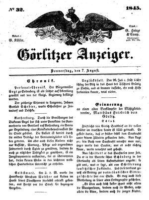 Görlitzer Anzeiger vom 07.08.1845