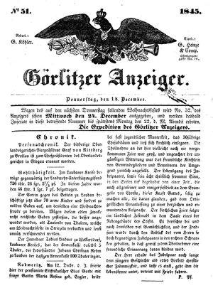 Görlitzer Anzeiger on Dec 18, 1845