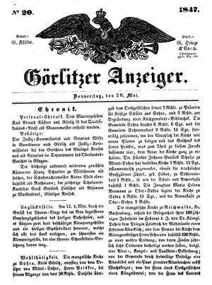 Görlitzer Anzeiger vom 20.05.1847