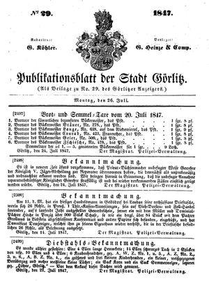 Görlitzer Anzeiger vom 26.07.1847