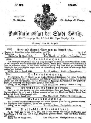Görlitzer Anzeiger vom 16.08.1847