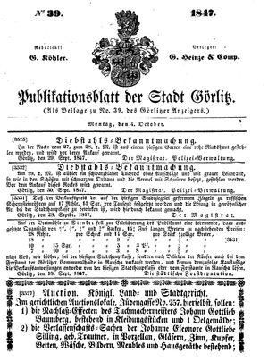 Görlitzer Anzeiger on Oct 4, 1847