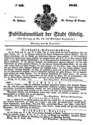 Görlitzer Anzeiger vom 20.12.1847