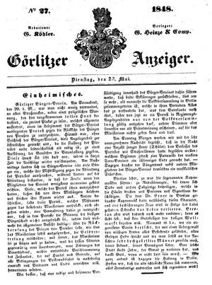 Görlitzer Anzeiger vom 23.05.1848