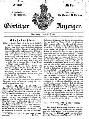 Görlitzer Anzeiger vom 04.06.1848