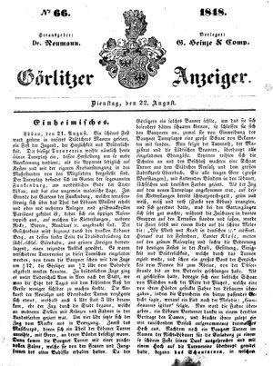 Görlitzer Anzeiger on Aug 22, 1848