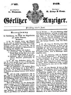 Görlitzer Anzeiger vom 05.06.1849