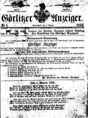 Görlitzer Anzeiger vom 01.01.1859