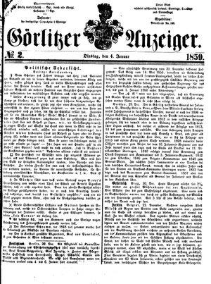 Görlitzer Anzeiger vom 04.01.1859