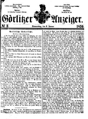 Görlitzer Anzeiger vom 06.01.1859