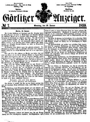 Görlitzer Anzeiger on Jan 16, 1859
