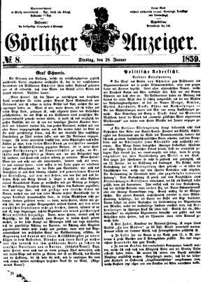 Görlitzer Anzeiger vom 18.01.1859